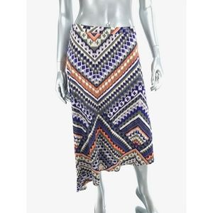 Chicos Sz 0 US Small Jersey Knit Skirt Multicolor